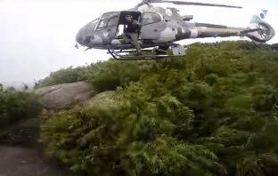 Resgate de helicóptero no morro do Canal.