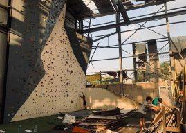 Escaladores de Beirute se unem para reconstruir ginásio