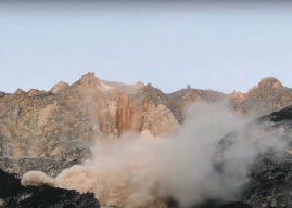 Vídeo capta momento exato de desabamento de montanha nas Dolomitas na Itália